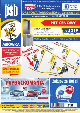 3,99 - PSB Mrówka Dąbrowa Tarnowska