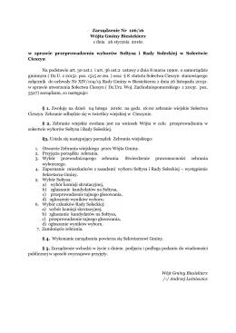 Zarządzenie Nr 126/16 z dnia 26 stycznia 2016r.