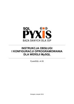 Pyxis4SQL - Instrukcja v4.05