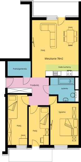 Mieszkanie 78m2 - Dom Przy Ogrodach