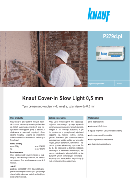 Knauf Cover-in Slow Light 0,5 mm P279d.pl