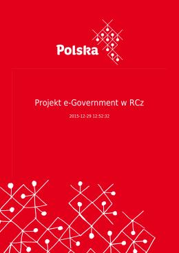 Projekt e-Government w RCz