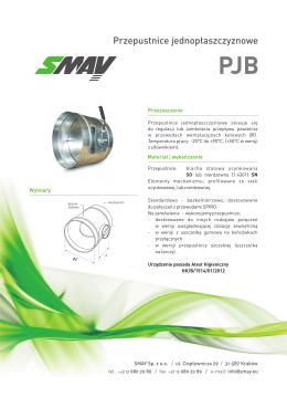Karta katalogowa Smay PJB