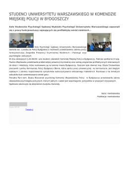 STUDENCI UNIWERSYTETU WARSZAWSKIEGO W KOMENDZIE