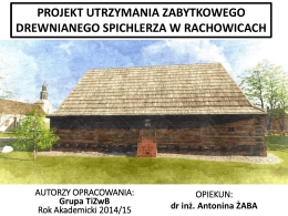 Prezentacja-Spichlerz Rachowice