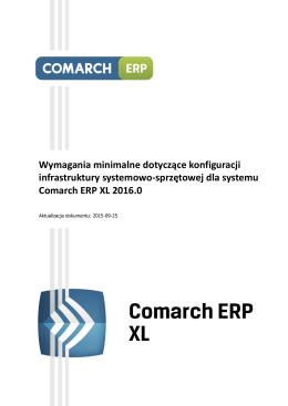 Wymagania minimalne systemu Comarch ERP XL 2015.1