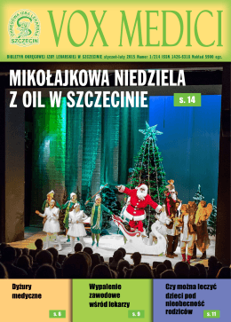 Vox Medici 1/2015 - Okręgowa Izba Lekarska w Szczecinie