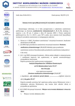 Instytut Biopolimerów i Włókien Chemicznych w Łodzi