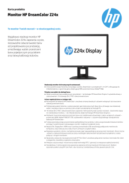 Monitor HP DreamColor Z24x