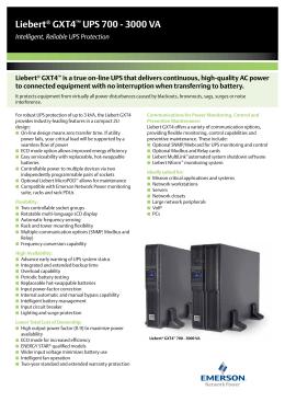 Liebert® GXT4™ UPS 700 - 3000 VA