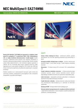 Datasheet - NEC Display Solutions Europe