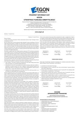 Prospekt informacyjny Aegon OFE 2015 (external link)