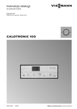 Instrukcja obs ugi CALOTRONIC 100 - serwis