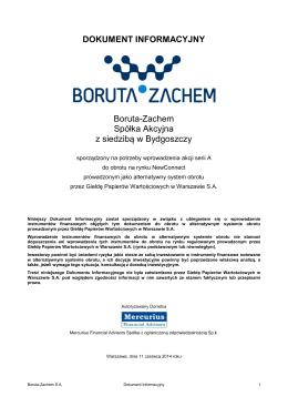 Dokument Informacyjny Boruta