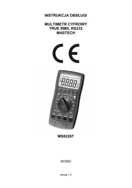 instrukcja obsługi multimetr cyfrowy true rms, rs232