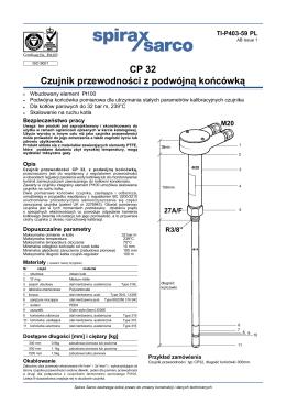 CP 32 Czujnik przewodności z podwójn¹ końcówk¹