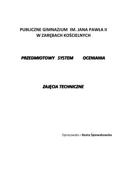 Zajęcia techniczne - Gimnazjum Publiczne w Zarębach Kościelnych