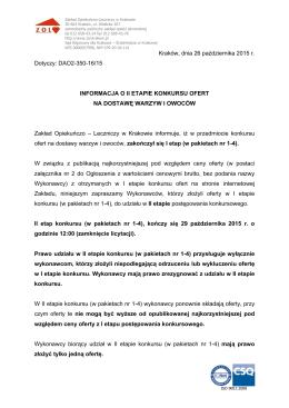 Kraków, dnia 26 października 2015 r. Dotyczy: DAO2-350
