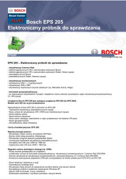 Bosch EPS 205 Elektroniczny próbnik do sprawdzania wtryskiwaczy