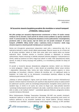 W Szczecinie otwarto bezpłatną poradnie dla stomików