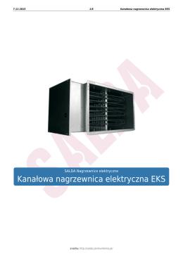 Kanałowa nagrzewnica elektryczna EKS