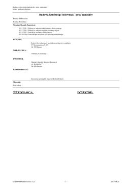 Przedmiar : Instalacje i sieci elektryczne lodowisko