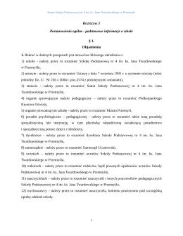 Postanowienia ogólne - podstawowe informacje o szkole § 1
