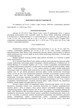 Rozstrzygnięcie nadzorcze Nr NPII.4131.1.484.2015 z dnia 4