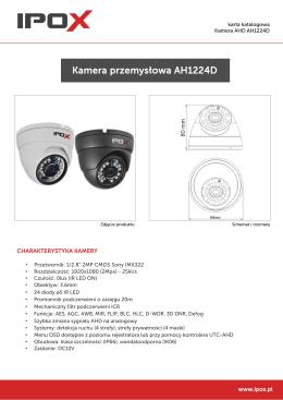 Karta katalogowa kamery AH1224D