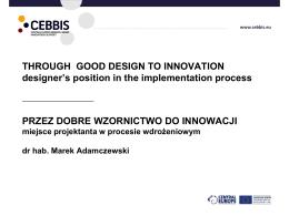 """""""Przez dobre wzornictwo do innowacji"""", MARAD Design"""