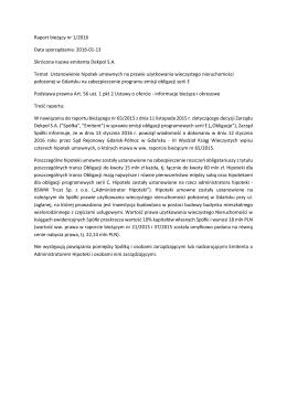 Raport bieżący 1/2016 13.01.2015 r.