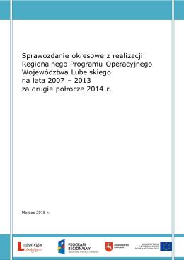 Sprawozdanie okresowe z realizacji RPO WL 2007