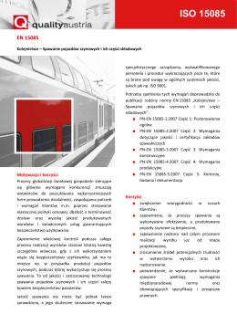 ISO 15085 - Quality Austria Polska