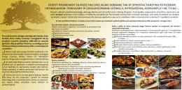 Przykładowe menu - Promenada Country Club