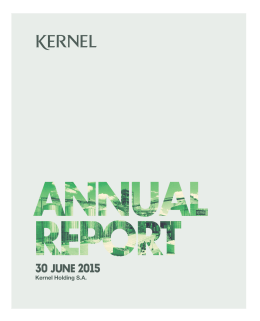Annual Report for the year ended 30 June 2015