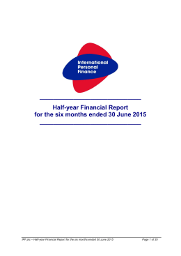 full report - International Personal Finance