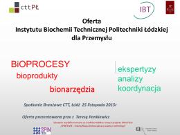 PREZENTACJA - Wydział Biotechnologii i Nauk o Żywności