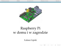 Raspberry Pi w domu i w zagrodzie