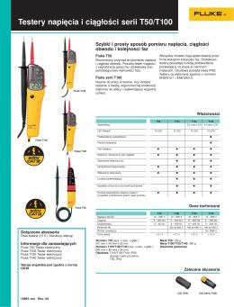Testery napięcia i ciągłości serii T50/T100