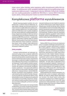 Kompleksowa platforma wyszukiwawcza