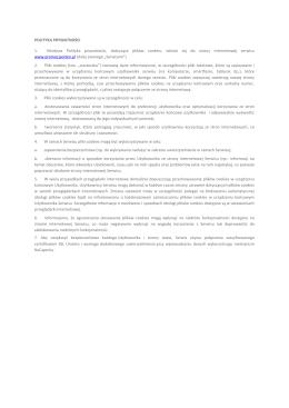 Pobierz Politykę Prywatności w PDF.