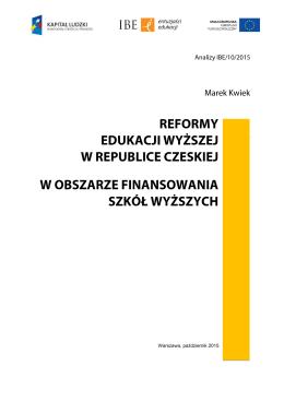 Analizy IBE/01/2015 - Raporty i rekomendacje IBE powstałe w