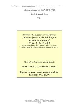 StudVilCD_1_cover 2 - Mokslas ir gyvenimo kokybė