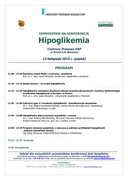 Hipoglikemia - Polska Federacja Edukacji w Diabetologii
