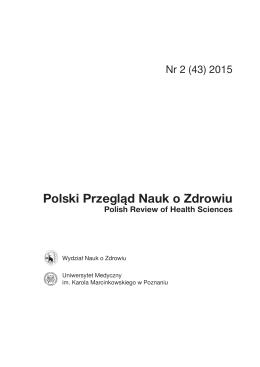 Polski Przegląd Nauk o Zdrowiu - Uniwersytet Medyczny im. Karola
