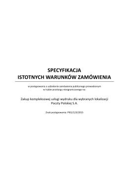 SIWZ – Specyfikacja Istotnych Warunków Zamówienia