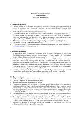 """Regulamin serwisu konkursowego """"Baclofen"""