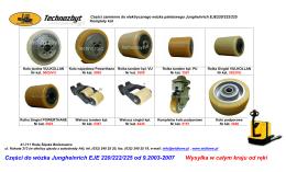 Części do wózka Jungheinrich EJE 220/222/225 od 9.2003