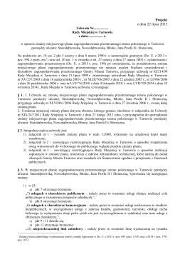 TEKST planu uchwała_zmiana mpzp Starodąbrowska..._wyłożenie