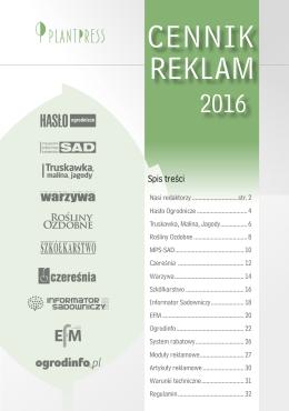 REKLAM CENNIK - Hasło Ogrodnicze